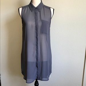 Sheer Long Vest by Lush